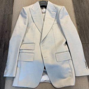 Tom Ford Light Ivory Grey Peak Lapel 2 Pc Suit